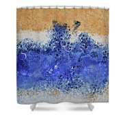 Blue Beach Bubbles Shower Curtain