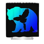 Blue Bear    -024 Shower Curtain