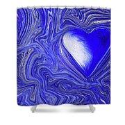 Blue Beats Shower Curtain