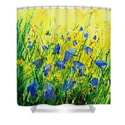 Blue Bells  Shower Curtain