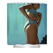 Blue Bikini Sixty Two Shower Curtain