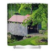 Blue Bird Farm Shower Curtain