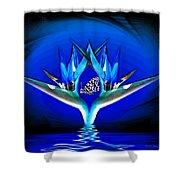 Blue Bird Of Paradise Shower Curtain