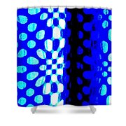 Blue Black Pattern Abstract Shower Curtain