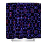 Blue Black Red Warp Abstract Shower Curtain
