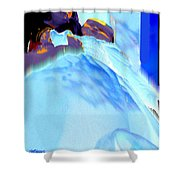 Blue Blanket Shower Curtain