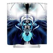 Blue Blazes Shower Curtain