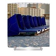 Blue Blocker Shower Curtain