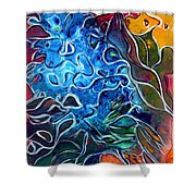 Blue Blossom Shower Curtain