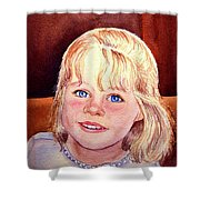 Blue Blue Eyes Shower Curtain