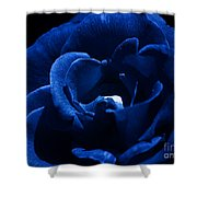Blue Blue Rose Shower Curtain