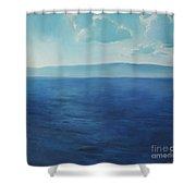 Blue Blue Sky Over The Sea  Shower Curtain