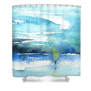 Blue Blue The World Is Blue Shower Curtain