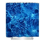 Blue Blue Water Shower Curtain