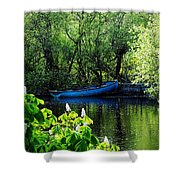 Blue Boat Cong Ireland Shower Curtain