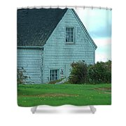 Blue Boathouse Shower Curtain
