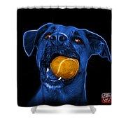 Blue Boxer Mix Dog Art - 8173 - Bb Shower Curtain