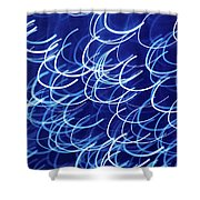Blue Breasts Shower Curtain