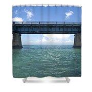 Blue Bridge Shower Curtain