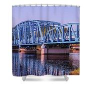 Blue Bridge Georgia Florida Line Shower Curtain