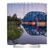 Blue Bridge Over The St. Marys River Kingsland, Georgia Shower Curtain