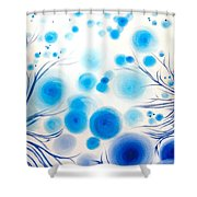 Blue Bubbles Shower Curtain