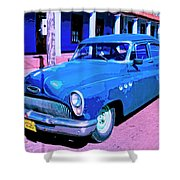 Blue Buick Shower Curtain