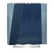 Blue Building Shower Curtain