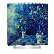 Blue Bunch Shower Curtain