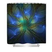 Blue Butterflies Shower Curtain