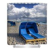 Blue Cabana Shower Curtain