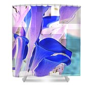 Blue Calla Lily2 Shower Curtain