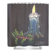 Blue Candle Shower Curtain