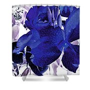 Blue Canna Lily Shower Curtain
