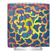 Blue Canvas #1 Shower Curtain
