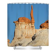 Blue Canyon Finger H Shower Curtain
