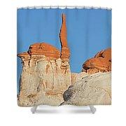 Blue Canyon Finger V Shower Curtain