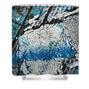 Blue Canyons Colliding Shower Curtain
