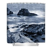 Blue Carmel Shower Curtain
