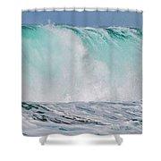 Blue Cascade   Hawaiian Wave Shower Curtain