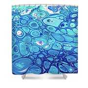 Blue Cells Shower Curtain