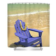 Blue Chair Shower Curtain
