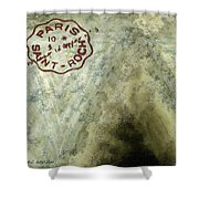 Blue Cheese Wheel Shower Curtain