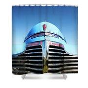 Blue Chevrolet Master Deluxe Shower Curtain