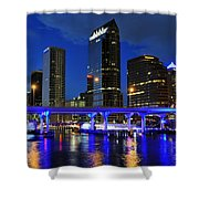 Blue City Shower Curtain