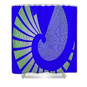 Blue Colored Metal Panel Tempe Center For The Arts Abstract Shower Curtain
