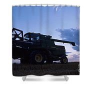 Blue Combine Shower Curtain