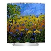 Blue Cornflowers 7761 Shower Curtain
