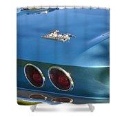 Blue Corvette Stingray Shower Curtain