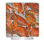 Blue Crabs Shower Curtain